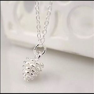 Sterling Silver Pinecone Pendant Necklace